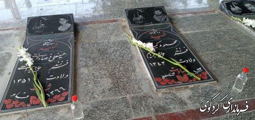به مناسبت هفته نیروی انتظامی آئین غبار روبی و عطر افشانی گلزار شهدای شهر کردکوی