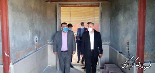 بازدید  مدیرکل ورزش و جوانان استان با ابراهیم قدمنان فرماندار کردکوی از پروژه های ورزشی شهرستان