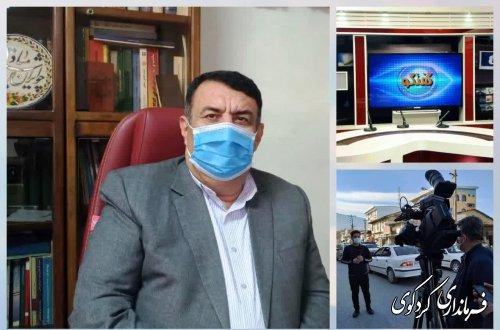 گفتگوی ابراهیم قدمنان فرماندار کردکوی در برنامه زنده تلویزیونی