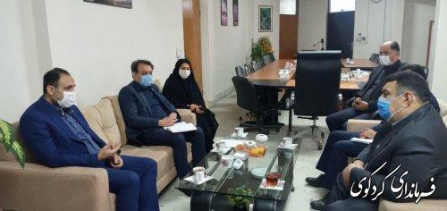 دیدار مدیرکل بهزیستی استان با فرماندارکردکوی