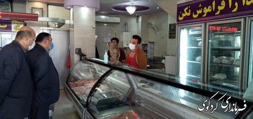 فرماندار کردکوی به همراه  مدیرکل پدافند غیر عامل استان از سطح بازارکردکوی بازدید کردند.