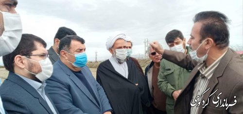 """تحقق آرزوی پنجاه ساله کشاورزان کردکویی در اراضی پایین دست معروف به """" چهلدین"""""""