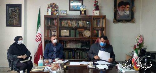 ستاد پیشگیری و مقابله با بیماری کرونا به ریاست دکتر حق شناس استاندار گلستان با فرمانداران
