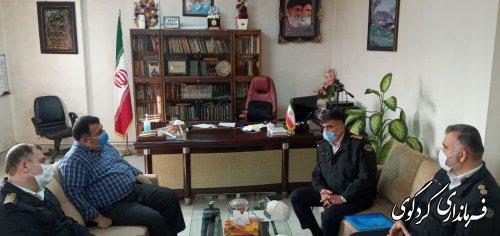 معاون پلیس راهور استان با فرماندار و رئیس شورای ترافیک شهرستان کردکوی دیدار کرد.