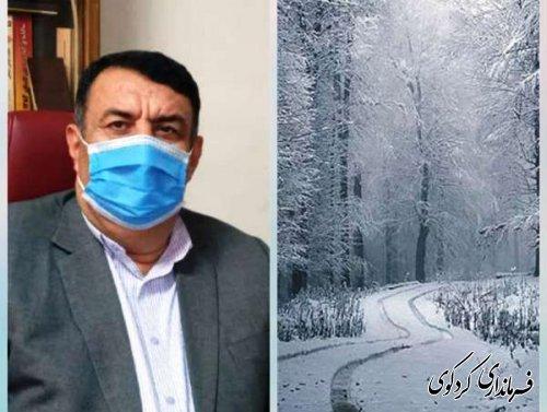 به علت بارش سنگین برف در ارتفاعات راههای ارتباطی به مناطق بالادست مسدود شده است.