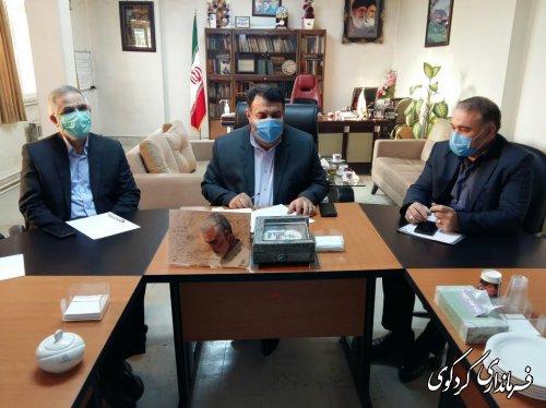 در نشست مشترک  فرماندار کردگوی با نماینده مردم غرب استان و مدیرکل راه و شهرسازی