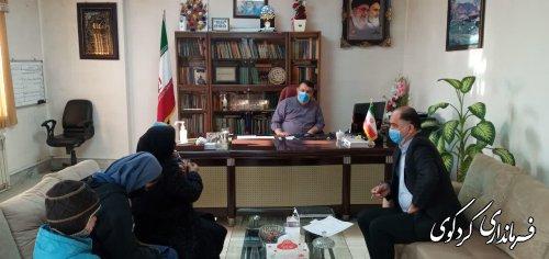 در ملاقات امروز سه شنبه تعدادی از شهروندان با فرماندارکردکوی دیدار و گفتگو کردند.