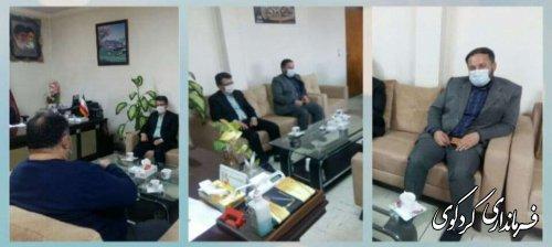 مهندس قادری مدیرکل مدیریت بحران استان با قدمنان فرماندار کردکوی دیدار و گفتگو کردند.