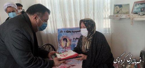 فرماندار کردکوی با برخی از مادران و خانواده شهدای معظم شهرستان دیدار و تجلیل کرد.