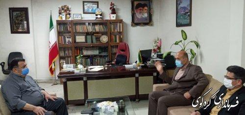 مدیرکل پدافند غیر عامل  و  مدیریت بحران استان بصورت همزمان با فرماندار شهرستان کردکوی دیدار و گفتگو کردند.