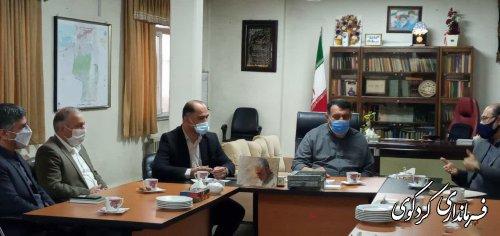 مدیرکل امور آب استان و هیات همراه  فرماندار کردکوی دیدار و گفتگو کردند.