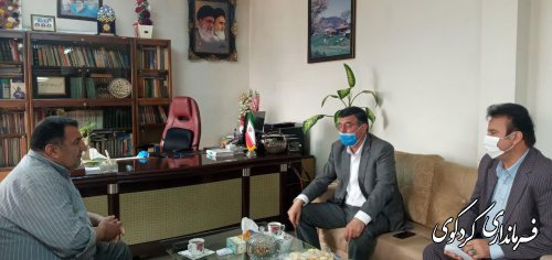 رئیس سازمان جهاد کشاورزی استان گلستان و هیات همراه با ابراهیم قدمنان فرماندار کردکوی دیدار و گفتگو کردند.