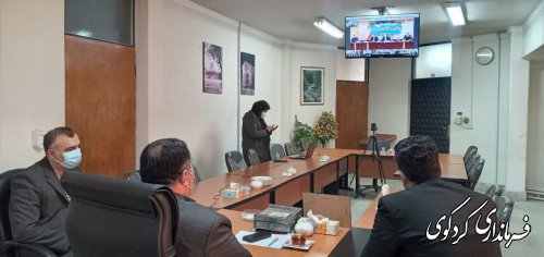 نشست ستاد پیشگیری و مقابله با بیماری کرونای استان به ریاست هادی حق شناس استاندار