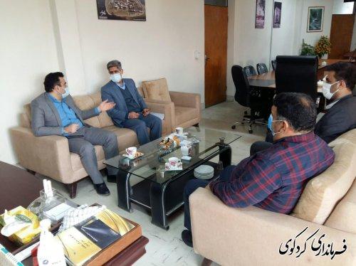 دیدار ریاست و معاونت بازرسی ستاد انتخابات شهرستان کردکوی با ابراهیم قدمنان