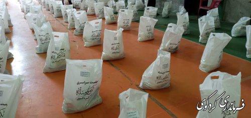 توزیع 650 بسته کمکهای مومنانه در سطح شهرستان کردکوی