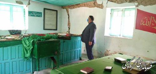 فرماندار کردکوی از چگونگی ساخت امامزاده چهارکوه شهرستان کردکوی بازدید کرد.
