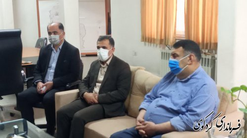 مدیرکل هواشناسی و هیات همراه با قدمنان فرماندار کردکوی دیدار و گفتگو کردند.