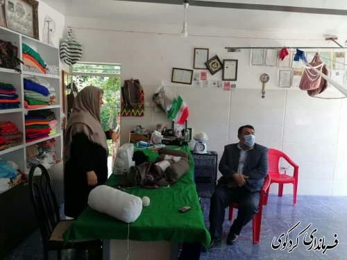 بازدید از کارگاه پارچه بافی