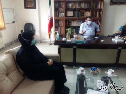 بانو دکتر جباری مدیر کل بانوان و خانواده استانداری گلستان با قدمنان فرماندار کردکوی دیدار و گفتگو کرد.