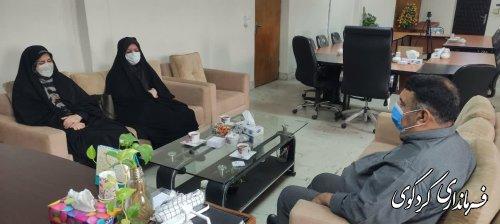 دیدار مدیرکل دفتر امور شهری و شوراهای استانداری گلستان و هیات همراه با قدمنان فرماندار کردکوی