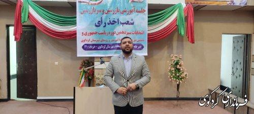 کلاس آموزشی توجیهی بازرسان و سر بازرسان ستاد انتخابات شهرستان کردکوی