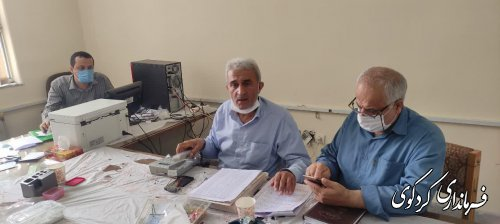 بررسی آخرین وضعیت اقدامات انجام شده اعضای هیات اجرایی در آماده سازی شعب اخذ رای