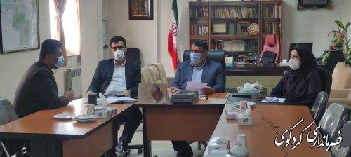 نشست مشترک دکتر احسان مکتبی معاون سیاسی امنیتی و اجتماعی استاندار گلستان با فرمانداران چهارده گانه استان