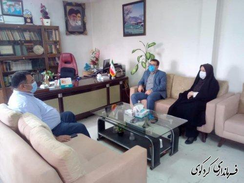 دکتر سعید مازندرانی مسئول بازرسی ستاد انتخابات شهرستان کردکوی با قدمنان فرماندار این شهرستان دیدار و گفتگو کردند