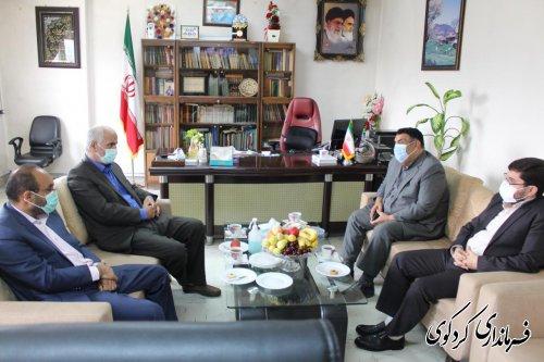 دیدار رئیس دادگستری استان گلستان با فرماندار و رئیس ستاد انتخابات شهرستان کردکوی