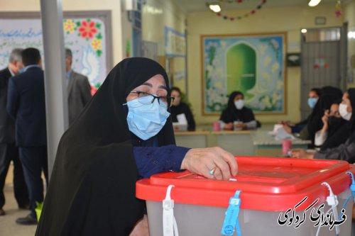 حضور پرشور مردم شهرستان کردکوی در انتختبات 1400