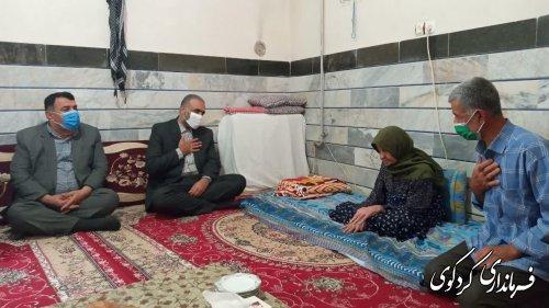 دیدار با خانواده شهید باقری - شهید مبارزه با اشرار قاچاق مواد مخدر-