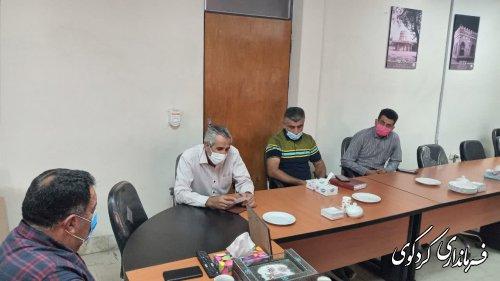تجلیل فرماندار کردکوی از مدال آوران کم توان (معلولان) شهرستان.