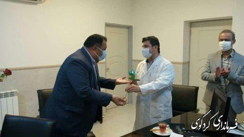 تجلیل فرماندار از پزشکان و کادر درمان بیمارستان جراحی قلب گلستان شهر کردکوی
