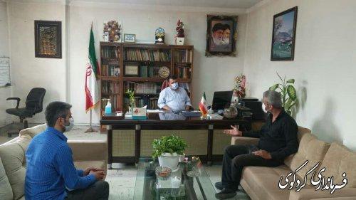 سپاسگزاری انجمن معتادان گمنام شهرستان کردکوی ازابراهیم قدمنان فرماندار