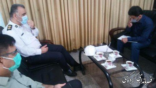 تشکیل سومین جلسه شورای ترافیک شهرستان