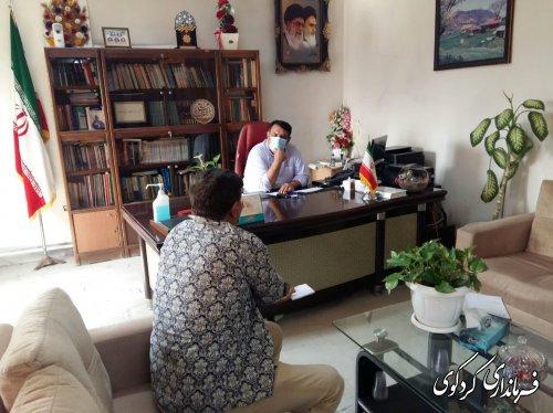 یک روز سخت کاری دیگر برای فرماندار کردکوی در سه شنبه روز ملاقات عمومی