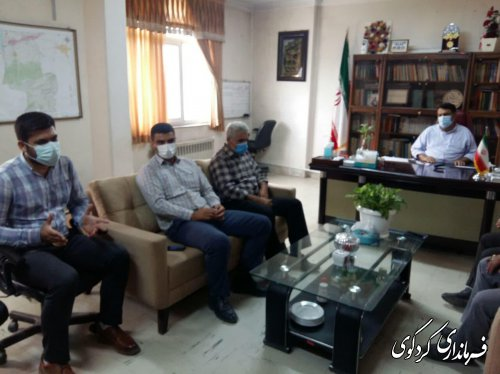 دیدار و گفتگوی دهیار و اعضای شورای اسلامی دنگلان با فرماندار کردکوی
