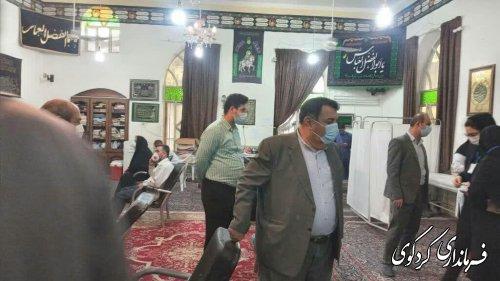 بازدید فرماندار از مراکز واکسناسیون شهر کردکوی
