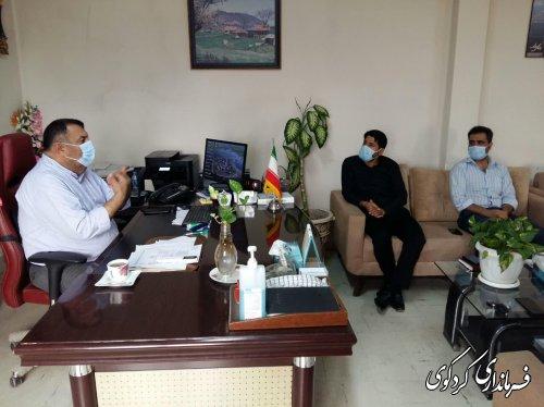 دیدار اعضای شورای اسلامی شهر با فرماندار