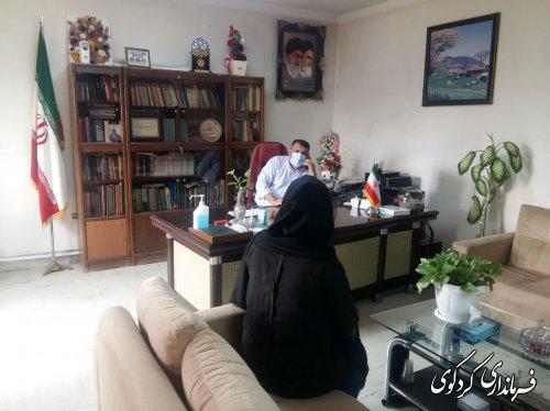 تعدادی از شهروندان با فرماندارکردکوی دیدار و گفتگو کردند