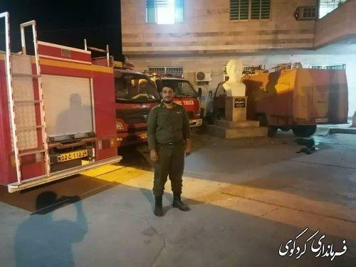 اماده باش واحد های اتش نشانی استان در فرمانداری کردکوی