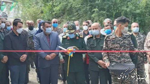 بهره برداری از ۱۰۰ پروژه محرومیت زدایی بسیج سازندگی سپاه استان بصورت همزمان در روستای قلندرآیش کردکوی آغاز شد